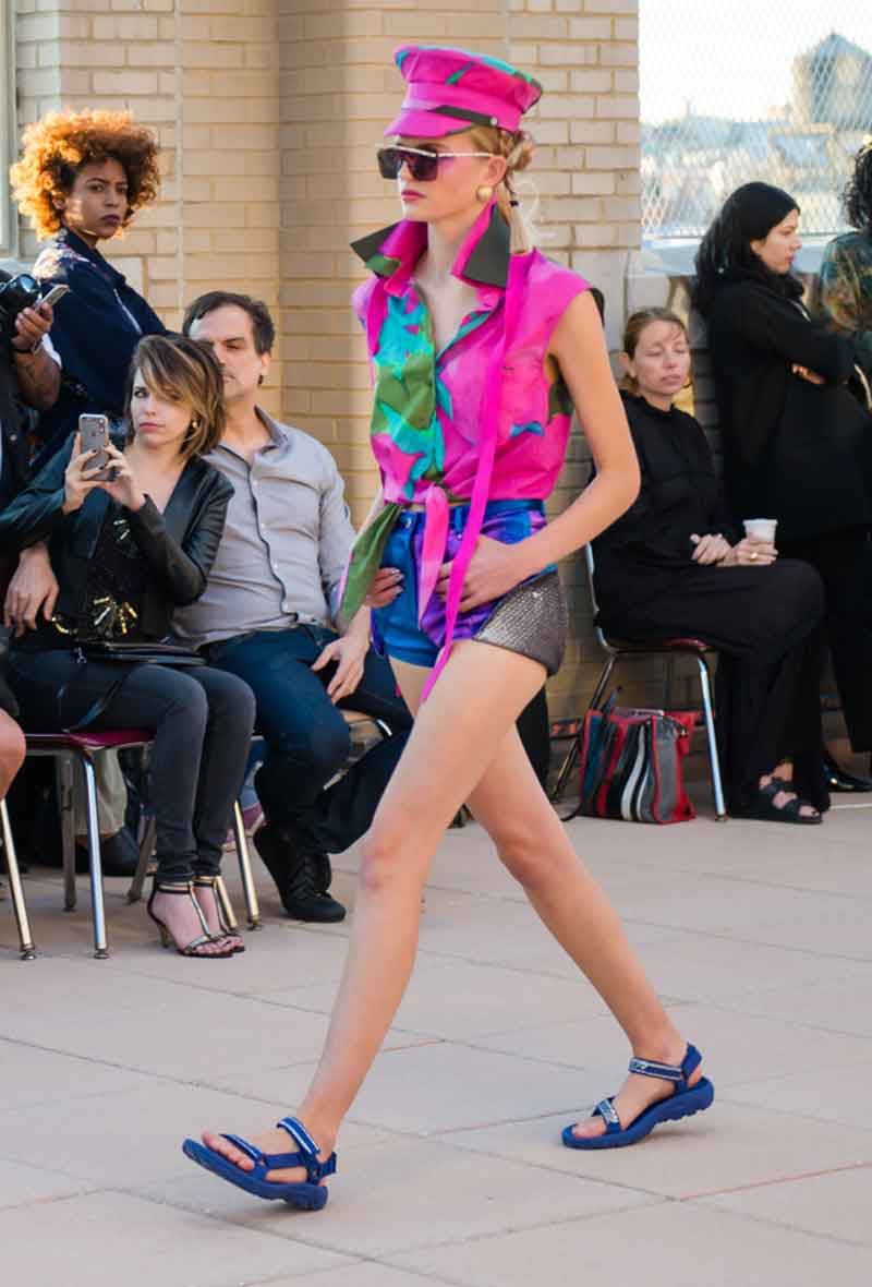 Teva makes an appearrance at New York Fashion Week.