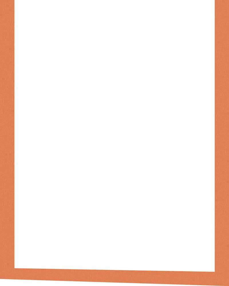 White background with orange border
