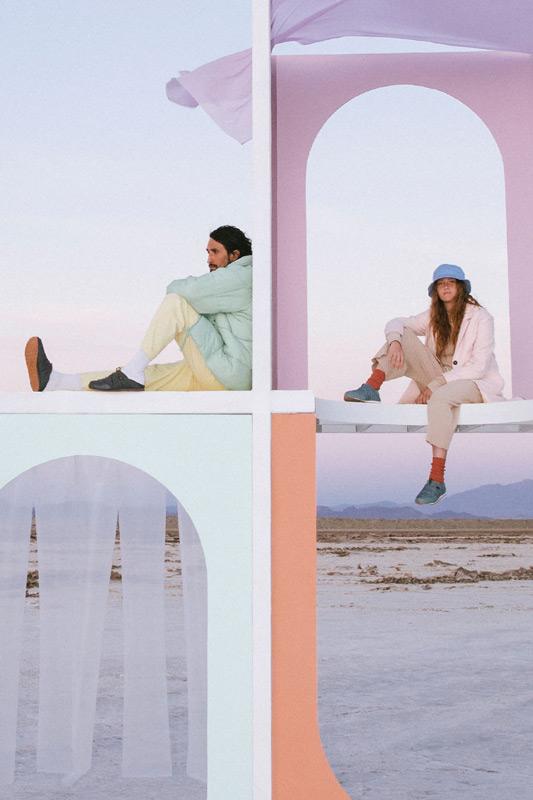 Two people, wearing Teva ReEmber.
